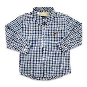 Camisa Infantil Xadrez Azul - Tam G a 6