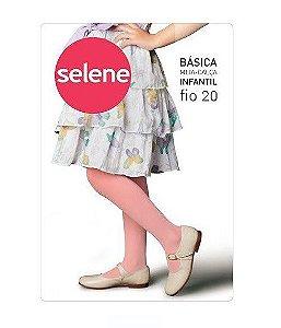Meia calça Infantil Fina Fio 20 Rosa