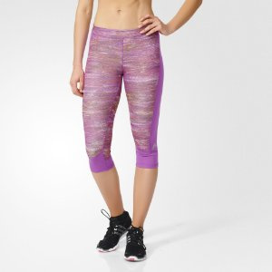Techfit Capri Print Heather