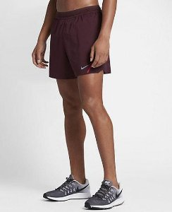NIKE AEROSWIFT 5 RUNNING SHORTS Night Maroon University vermelho