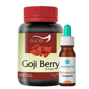 Kit Homeopático Exobesity 60mL + 60 Cápsulas de Goji Berry 500mg - DUOM