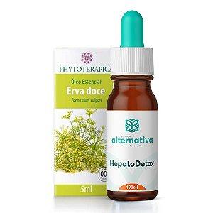 KIt Óleo Essencial de Erva Doce Phytoterápica + HepatoDetox - Homeopatia para Detox Hepático 100mL