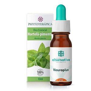 Kit Óleo Essencial de Hortelã-pimenta Phytoterapica 10mL + Neuroplus Homeopatia para Tratamento de Enxaquecas Crônicas 60mL