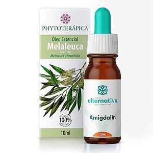 Kit Óleo Essencial de Melaleuca Phytoterápica 10mL + Amigdalin Associação Homeopática Gotas 30mL