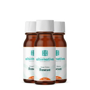 Kit 3 frascos de Rescue Dose Única 15mL