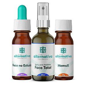 Alternativa Trio para Estudantes - Homeopatia + Floral de Saint Germain + Spray ambiente Foco Total