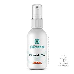 Minoxidil 5% Spray 60mL Sem álcool - Cabelo e Barba
