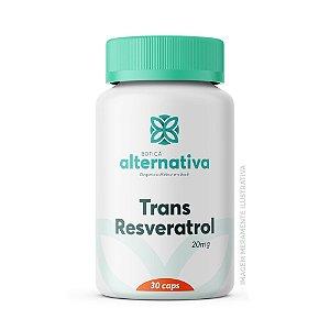 Trans Resveratrol 20mg 30 Cápsulas Vegetais