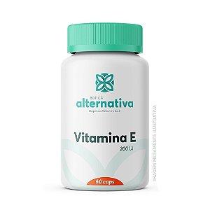Vitamina E 200UI 60 Cápsulas Vegetais