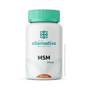 MSM - Metil sulfonil metano 500mg 120 Cápsulas Vegetais