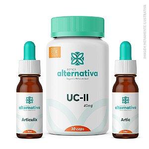 AlterMax Juntas e Articulações - UCII 40mg 30 caps + Articulix 60ml + Artic 60mL