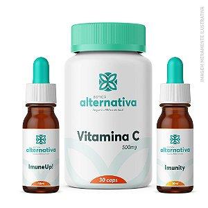AlterMax Imunidade Adultos - ImuneUp 60mL+ Imunity floral 30mL + Vitamina C 500mg 30 cápsulas
