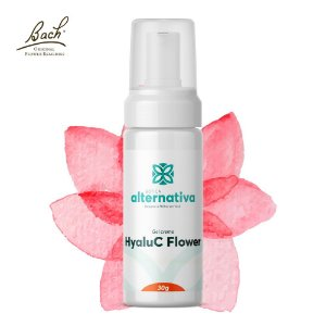 HyaluC Flower - Ácido Hialuronico 10% + Vitamina C  5% + Floral de Bach Rescue  Gel Creme Facial 30g