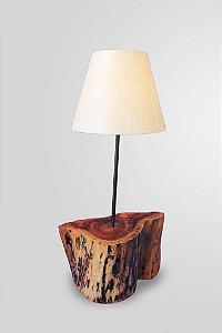 Abajur Chapeu de madeira macica / 1 E27