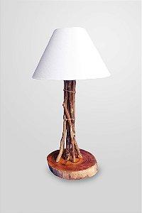 Abajur Galho com base de madeira /1E27