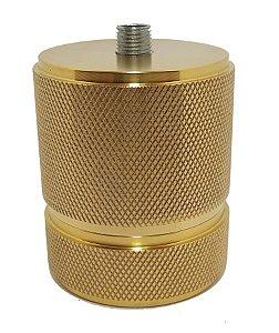 Soquete de cerâmica com acabamento em latão dourado