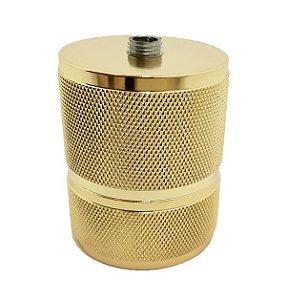 Soquete com acabamento de Aluminio na cor Dourado /E27