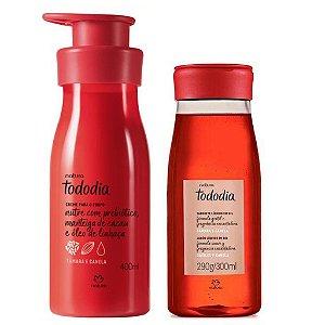 Creme Hidratante Natura Tâmara e Canela 400 ml + Sabonete Líquido Tâmara e Canela 300 ml