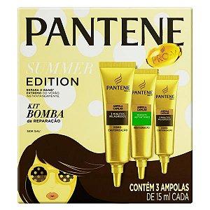 Ampola Pantene Summer Edition Kit Bomba De Reparação Com 3 De 15ml
