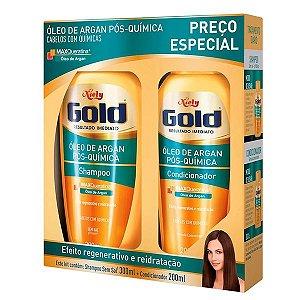Niely Gold Óleo de Argan Pós Química Kit - Shampoo + Condicionador