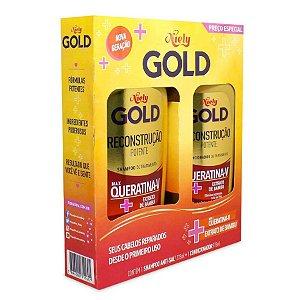 Kit Niely Gold Queratina Reparação Shampoo+Condicionador