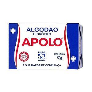 Algodão Hidrófilo Apolo em Rolo Caixa 50g