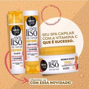 kit Salon Line Meu Liso VITAMINA C Sh+ Cond+Máscara