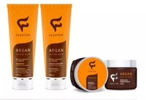 Kit Shampoo+ Condicionador + Máscara Argan