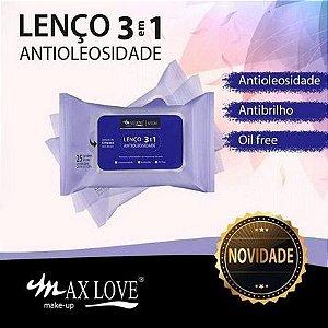 Lenço Demaquilante Antioleosidade 3 em 1 Max Love