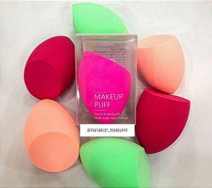 Esponja chanfrada makeup puff