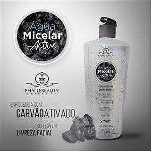 Agua Micelar Active Carvão Ativado 250Ml Phallebeauty