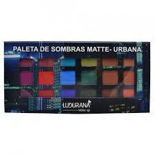 Ludurana Paleta De Sombras Matte Urbana - 18 Cores