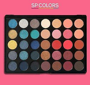 Paleta de Sombras Best 35 Cores Pro V2 – SP Colors