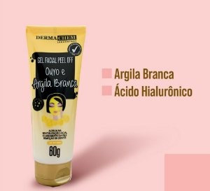 Gel Facial Peel off ouro e argila branca