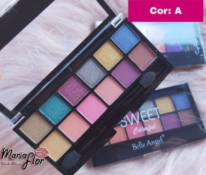 PALETA DE SOMBRAS SWEET COLORFUL BELLE ANGEL T040-3 COR A
