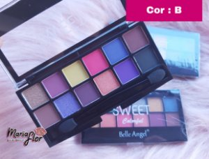 PALETA DE SOMBRAS SWEET COLORFUL BELLE ANGEL T040-3 COR B