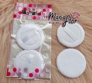 Esponjinha branca para aplicaçao de po ou proteçao de marcas