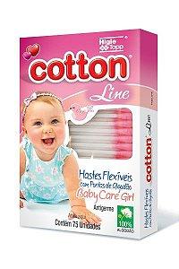COTONETE COTTON LINE 75UN ROSA