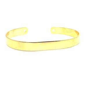 Bracele liso folheado em ouro 18k