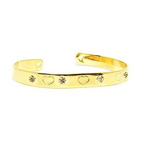 Bracelete Coração folheado em ouro 18k