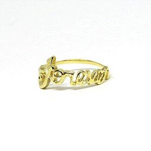 Anel forever folheado em ouro 18k