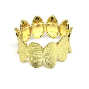 Bracelete  de festa dourado