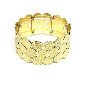 Bracelete dourado de bolinha