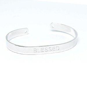 Bracelete Blessed folheado em ródio branco