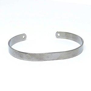 Bracelete liso ródio negro