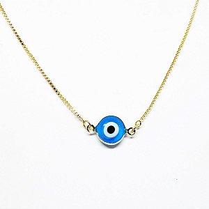 Choker olho grego folheado em ouro 18k