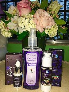 Kit Hidratação profunda- Shine RS Gotas Neuro Potencializadoras+Loção Facial Hidratante Elixir Flores Lemurianas+Fluido Facial Hidratante
