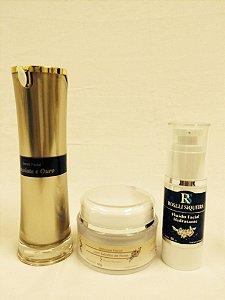 Kit Manchas: Serum Chocolate e Ouro, Máscara de Flores e Bio Fluído - 428 g