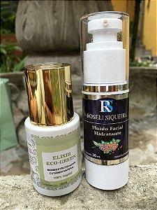 Kit Proteção para pele- Elixir Eco-Green 30 ml+ Fluido Facial Hidratante para pele normal 30 ml