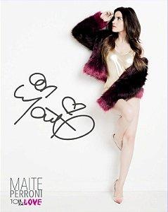 Maite Perroni - Card Oficial - Autografado